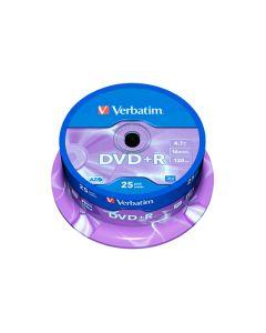 Dvd+r Verbatim 4,7gb 43500 (siae inclusa) 25pz