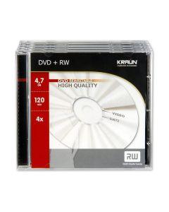Dvd+rw Kraun 4,7gb (siae inclusa) 5pz + case