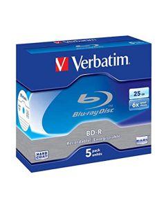Dvd blu-ray Verbatim 25gb (siae inclusa) 5pz + slim case 43753