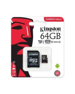 Memoria micro sd 64gb Kingston mod.SDCS/64GB 80r/10w