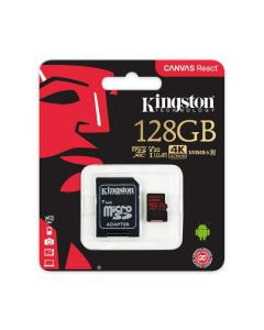 Memoria micro sd 128gb kingston SDCR/128GB 100r/80w