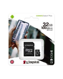 Memoria micro sd 32gb kingston Canvas Select Plus mod.SDCS2/32GB 100r/85w