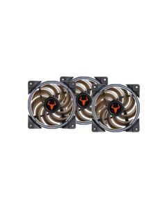 Kit Ventole ARGB 3x 120x120x25 3pin Itek Taurus T-Ring + controller + cavo sync cod. ITCFTRAK31