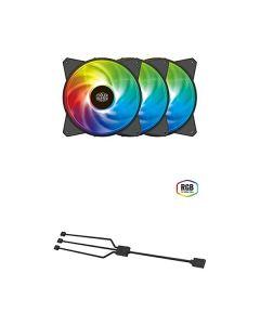 Kit Ventole ARGB 3x 120x120x25 3pin Cooler Master MasterFan MF120 + controller + cavo sync cod.CMR4120R203CR1